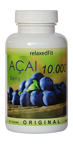 Acai Beere 10000 - optimal dosiert 40:1 Konzentrat - Fitnessprodukt - Made in Germany (3-Monatspackung (180 Kapseln))