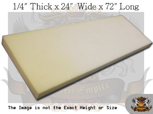 1/4'' X 24'' X 72'' Dry Fast Reticulated Foam Sheets