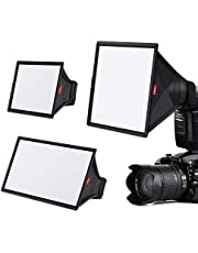 Flash Diffuser Light Softbox Kit (Universal, Collapsible) Include 6x5 inches, 9 x 7 inches, 13 x 8 inches for Nikon, Canon Speedlight, Sony, Yongnuo and Other DSLR Flash Light