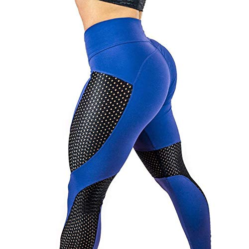 - Oksale Womens Workout Leggings Fitness Sports Gym Running Yoga Athletic Pants (S, Blue)