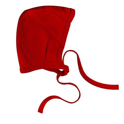 Amoureux Baby Toddler Bonnet Hat - 100% Cotton Tagless Soft Pilot Cap red 12-18 ()