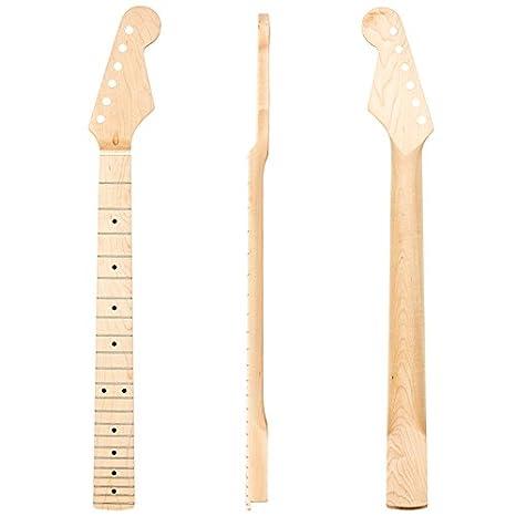 Kmise Gloss de arce 22 trastes para guitarra eléctrica Cuello Para Fender Stratocaster Strat ST Sustitución de piezas, Natural 1: Amazon.es: Instrumentos ...