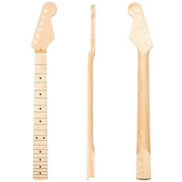 Kmise glänzend Ahorn 22 Bund E-Gitarre Hals für Fender Stratocaster ...