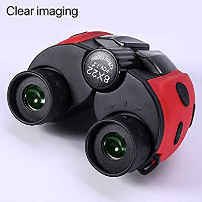 Diaclara Kids Binoculars 8x22 High-Resolution Real Optics Compact Binoculars Kids Toy for Boys and Girls ,Small Telescope for Kids Bird Watching, Travel, Safari, Adventure, Outdoor Fun(Black): Toys & Games