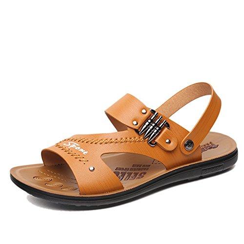 Cool Keplia Skidproof Summer Keplia Mens Lightweight Cool Sandels Sandals Yellow q1aTgwZ