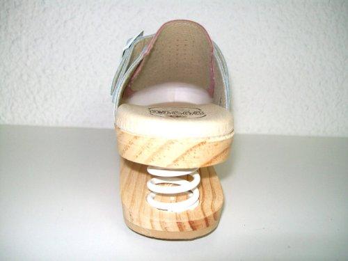 LUVER Sabot en bois anatomique avec ressort 120/A couleur blanc/rose taille 37