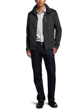 Calvin Klein Men's Color Blocked Transitional Jacket, Black, Large