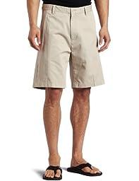 Nautica Men\'s Anc True Flat Front Short, True Stone, 38