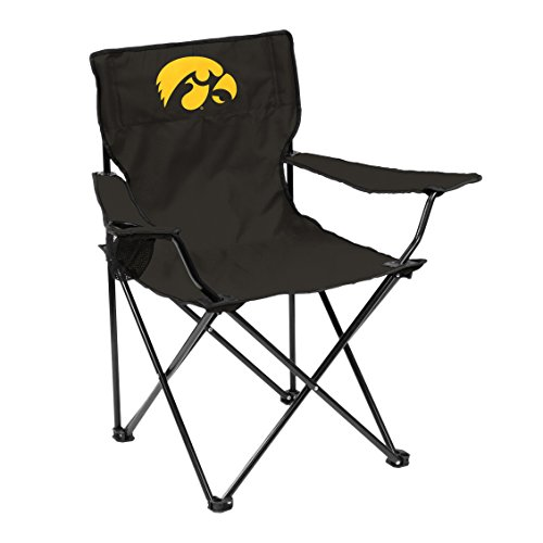 NCAA Iowa Hawkeyes Quad Chair, Adult, Black Iowa Hawkeyes Tailgate