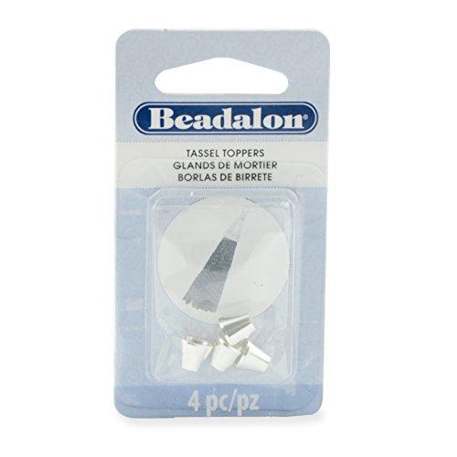 Artistic Wire Beadalon 357B-052 Tassel Topper, Silver Plated, E-Coat, Beveled Cone