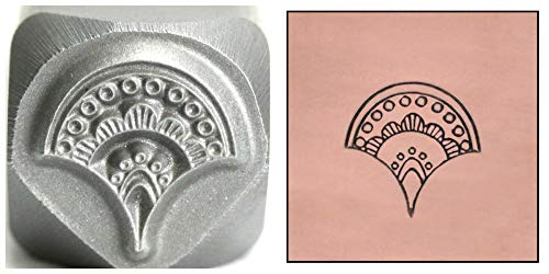 Whimsical Design Stamp - Mandala Metal Design Stamp, 7mm Whimsical Fan Punch Stamping Tool for Hand Stamped DIY Jewelry Crafts - Beaducation Original Metal Design Stamps