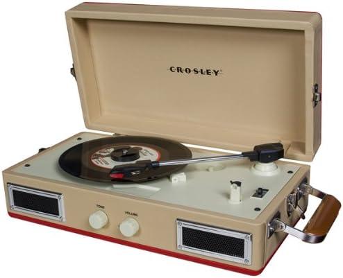 Crosley CR40 - Tocadiscos (Tocadiscos de tracción por Correa, Rojo ...