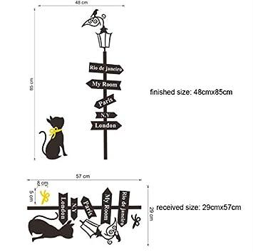 WHXJ Nuevos Gatos Grandes Etiqueta De La Pared Lámpara De Calle Pegatinas Sofá Decoración De La Pared De Vinilo Removible Tatuajes De Pared Mural Wallpaper ...