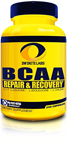 Infinite Labs BCAA - 40 Servings  (240 Capsules)