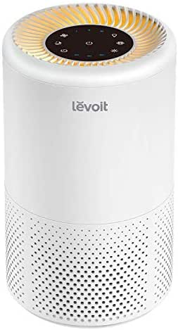 LEVOIT Air Purifier for Home Allergies and Pets Hair, Smokers, True HEPA Filter, Quiet in Bedroom,Filtration System Cleaner Eliminators, Removes Smoke Odor Dust Mold, Warm Night Light&Timer, Vista 200