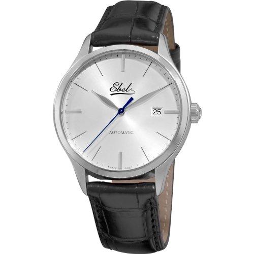 Ebel Men's 9120R41/6430136 Classic Mens Silver dial Black Strap Watch