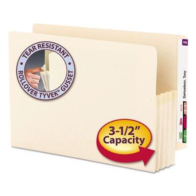3 1/2'' Exp End Tab File Pocket, Straight Tab, Legal, Manila, 25/Bx