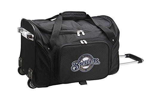 (MLB Milwaukee Brewers Wheeled Duffle Bag)