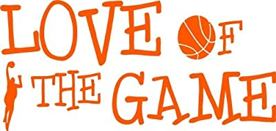 Top Selling Decals - Prices Reduced : Best Selling Cling Transfer : Basketball Love Of The Game Hoops Team Wall Sticker Size : 6 Inches X 16 Inches - 22 Colors Available