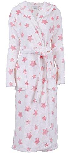 Spa Robe Women's Luxurious Soft Plush Hooded Bathrobe Robe Sleepwear Nightgown