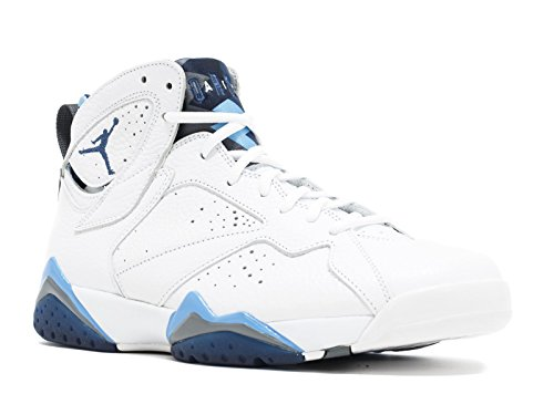 Jordan Air 7 Retro French Blue Men's Shoes White/Frech Blue-University Blue-Flint Grey 304775-107 (9 D(M) US)