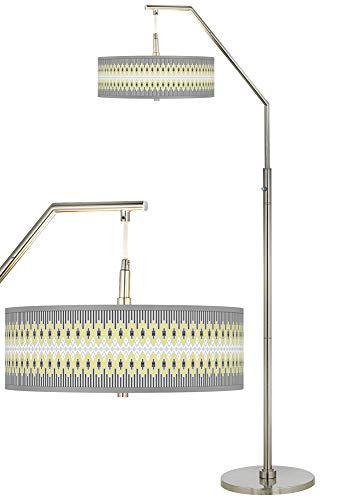 Desert Geometric Giclee Shade Arc Floor Lamp - Giclee Glow