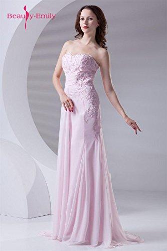 Tirantes Beauty Rosa Alinear Bordado emily Sin Del Vestidos 6qFCU