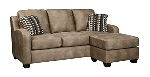 Benchcraft - Alturo Contemporary Sofa Chaise Sleeper - Queen Size Mattress Included - Dune