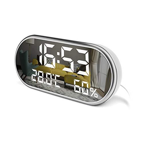 LED Digital Alarm Clock - Large Display Alarm Clock with Triple Alarms - 3...
