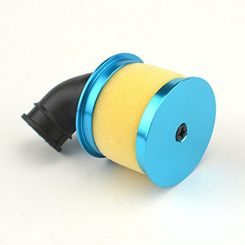 04014 Upgrade Parts Blue Alum Capped Air Filter Cover for 94102/94106/94108 HSP RC 1/10 Nitro 4WD Car