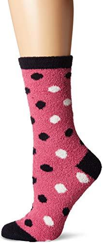 Dot Socks Fuzzy (Little Blue House By Hatley Women s Fuzzy Fleece Socks Polka dots One Size)