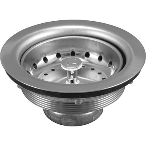 Keeney K5414 Sink Strainer with Fixed Post Basket, Polished Chrome by Keeney