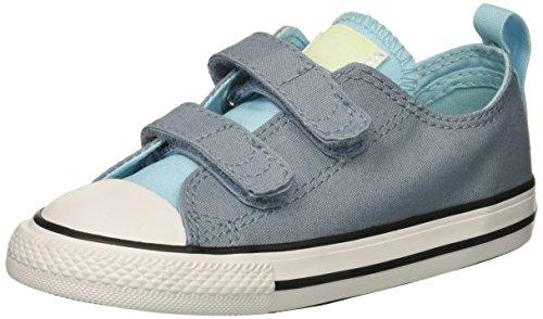 Converse Girls' Chuck Taylor All Star 2V Sneaker, Navy/Milk, 10 M US Toddler