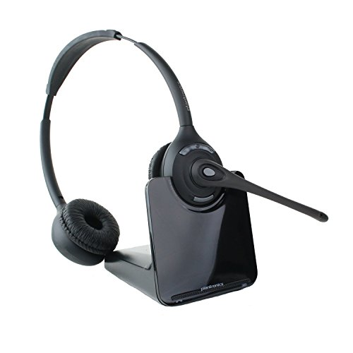 Plantronics CS520 Binaural Wireless Office Headset System for Telephone (Certified Refurbished)