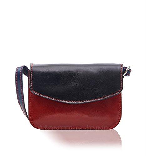 Montte Di Jinne - Bolso cruzados para mujer Rojo Red Black/ Red Multi