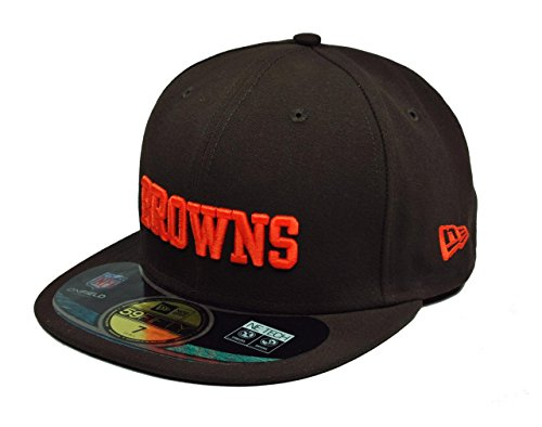 Cleveland Browns Game (NFL Cleveland Browns On Field 5950 Game Cap, Brown, 7 1/2)