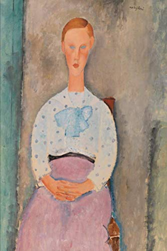 Art Journal: Amedeo Modigliani - Girl with a Polka-Dot Blouse - Art Cover College Ruled Notebook | 110 Pages