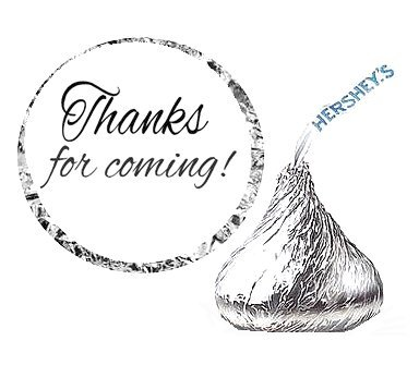 cakesupplyshop-item44960-108-thanks-for-coming-party-favor-hersheys-kisses-stickers-labels