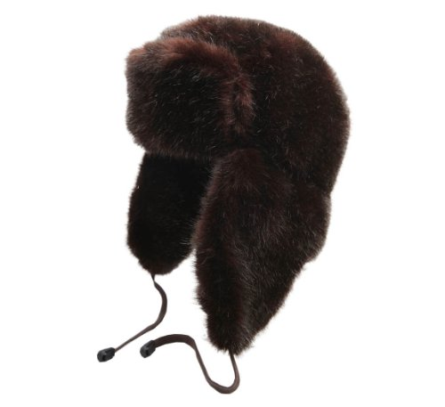 Clin D Oeil Women's Zadine Trapper Hat Size XL Chocolat