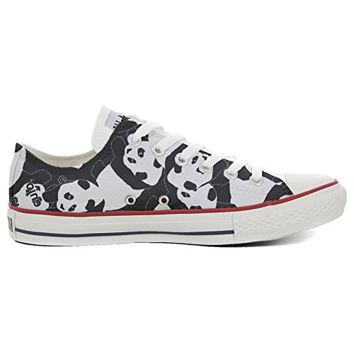 mys Converse All Star Low Customized Personalisiert Schuhe Unisex (Gedruckte Schuhe) Panda Style