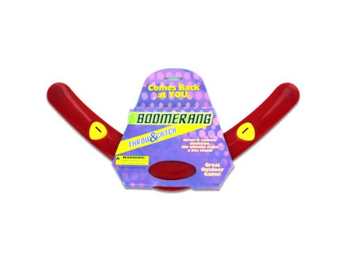 New - Red plastic boomerang - Case of 144 - KL120-144 by bulk buys
