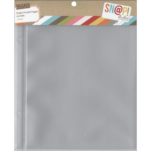 Simple Sn@p! Pocket Pages For 6''X8'' Binders 10/Pkg, (1) 6''X8'' Pocket by Simple