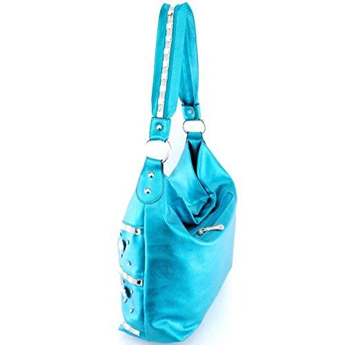 Rhinestone in Premium Bling Colors Hobo Blue 5 Bag Bling dR7BRq