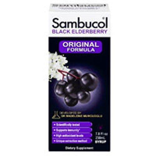 (Sambucol Black Elderberry Immune System Support, Syrup 7.8 Oz by Sambucol (Pack of 2))