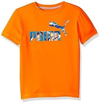 PUMA Big Boys' No.1 Logo Tee, Fire Orange, 18-20 (X-Large)