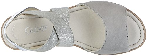 Gabor Women's Fashion Wedge Heels Sandals Grey (Grau/Silber 19) mi0mxWE