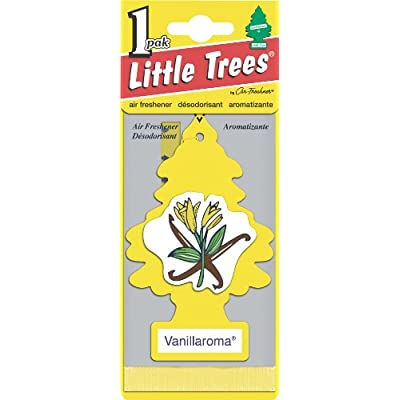 LITTLE TREES Car Air Freshener | Hanging Paper Tree for Home or Car | Vanillaroma | 24 Pack: Automotive
