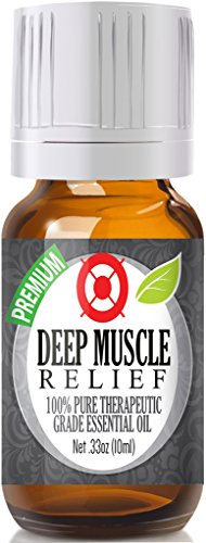Deep Muscle Relief Essential Oil Blend - 100% Pure Therapeutic Grade Deep Muscle Relief Blend Oil - 10ml