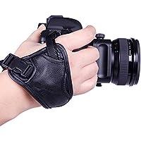 Ring licht Hand Polsbandje Leather Hand Strap Grip for DSLR-camera Statiefkop