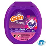 Gain Flings Laundry Detergent Pacs (90 Pacs) - Moonlight Breeze Scent